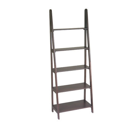 Osp Home Furnishings Espresso Ladderbookcase