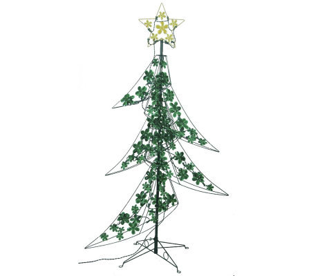 Holographic Christmas Tree.60 3d Led Lighted Holographic Tree By Sterling Qvc Com