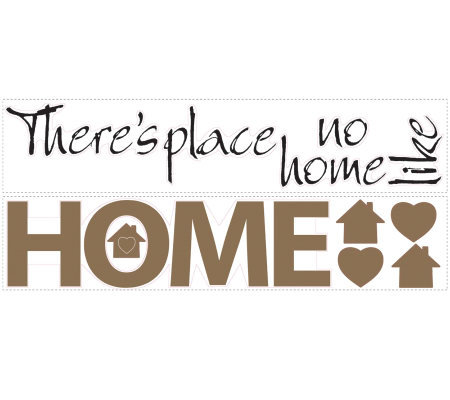 RoomMates No Place Like Home Peel & Stick WallDecals