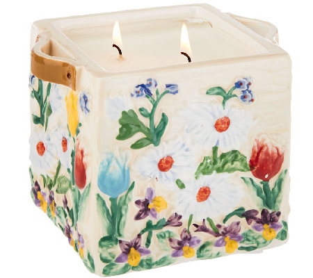 Temp-tations 23 oz. Floral Flower Crate Candle