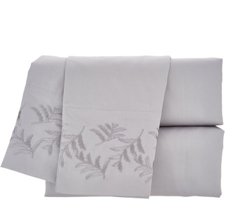 Northern Nights 400TC 100% Super Soft Cotton Sheet Set w/ Fern Hem