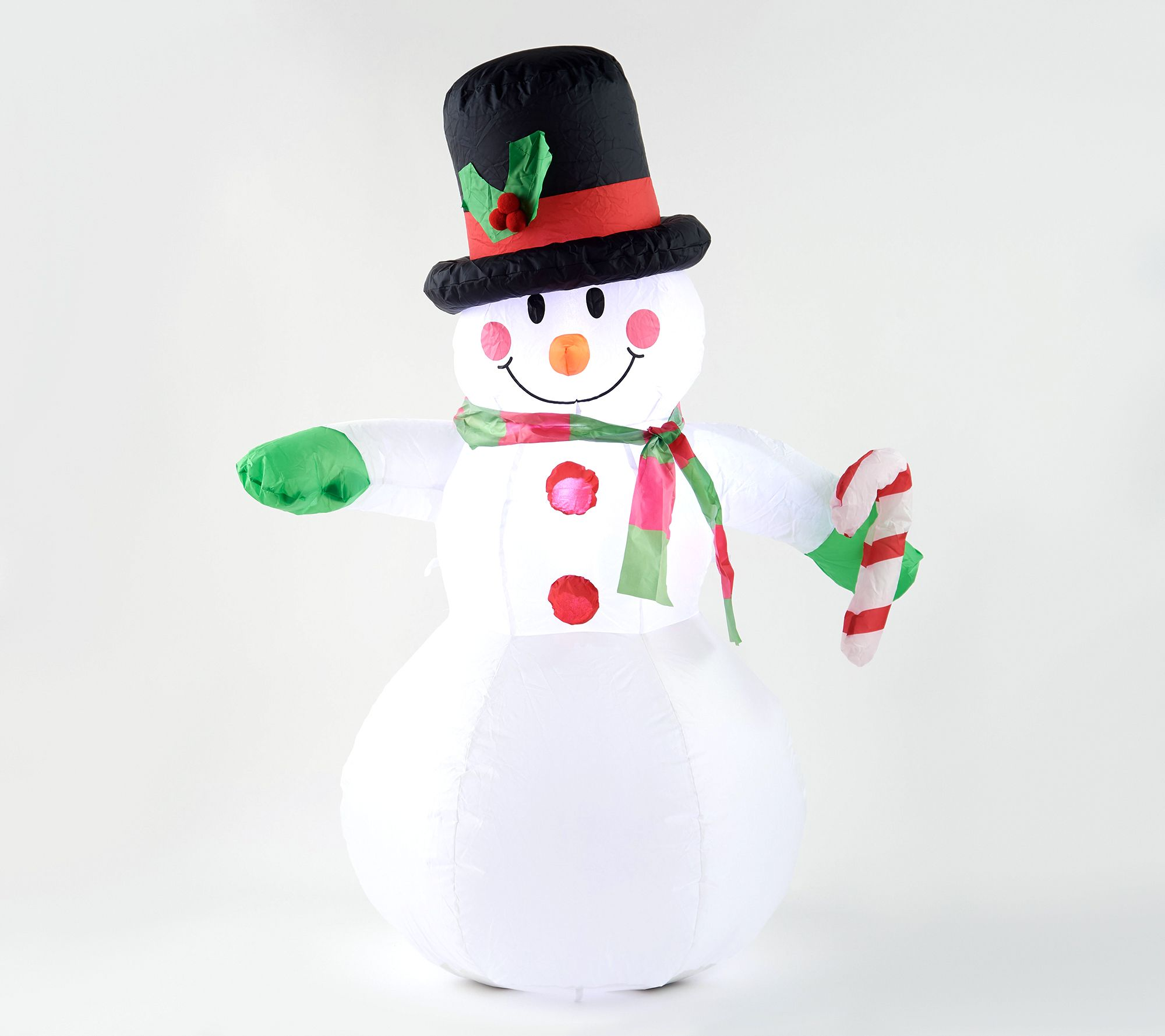 Illuminated inflatable snowman
