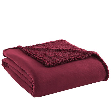 Shavel Micro Flannel Sherpa Twin Blanket