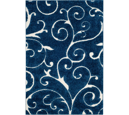 Safavieh 4'x6' Scroll Design Florida Shag Area Rug