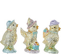 Set of (3) Slim Foil Wrapped Chicks by Valerie - H213773