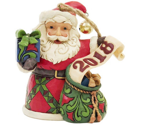 Jim Shore Heartwood Creek Exclusive Dated 2018 Santa Ornament