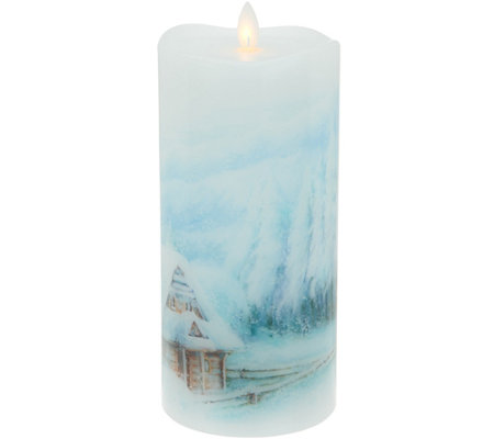 Candle Impressions Mirage Gold 8 Watercolor Pillar Candle
