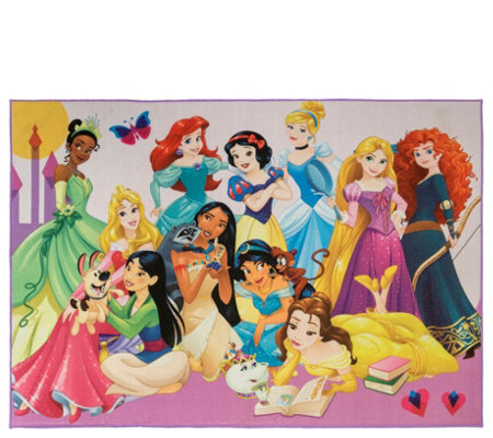 "Disney Princess Party 4'6"" x 6'6"" Area Rug"