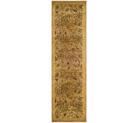 "Lyndhurst 2'3"" x 6' Paisley Life Power Loomed Runner"