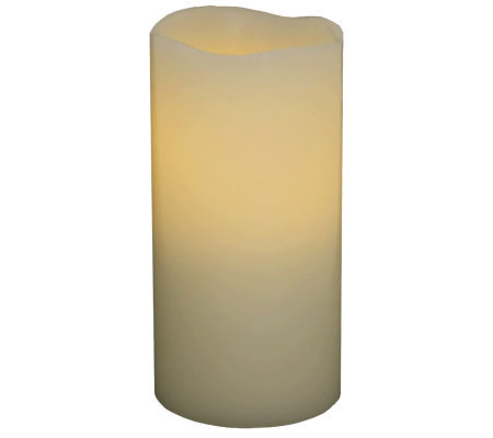 "Pacific Accents 3"" x 6"" Melted Top Flameless Candle"