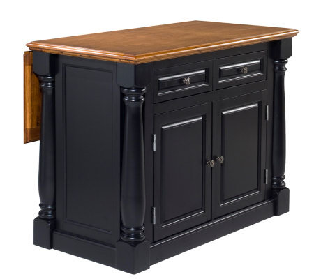 Home Styles Monarch Kitchen Island w/ Wood Top