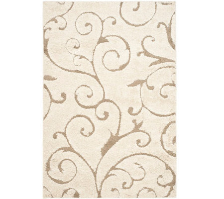 "Safavieh 5'3""x7'6"" Scroll Design Florida Shag Area Rug"