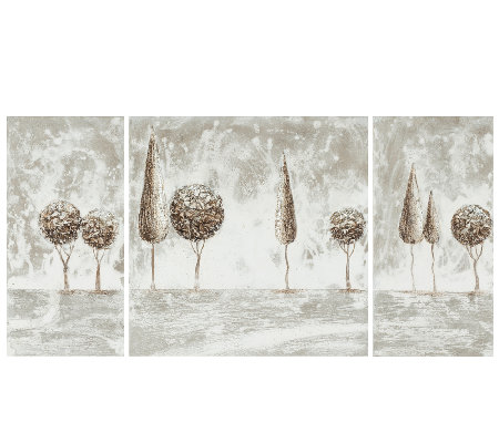 Triptych Topiaries Canvas Paintings by Safavieh
