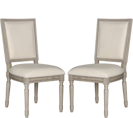 Buchanan Set of Two Beige Rect Side Chairs by Valerie