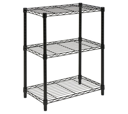 Honey-Can-Do 3-Tier Black Steel Urban Adjustable Shelving Uni