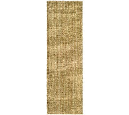 "Serenity Natural Fiber Borderless Sisal 2'6""x8'Rug"