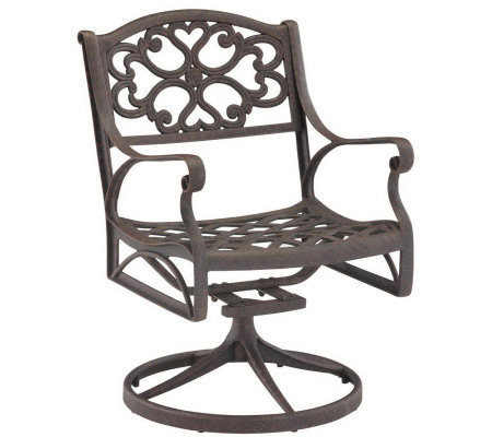 Home Styles Cast Aluminum Outdoor Swivel Armchair