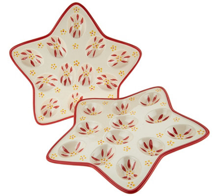 Temp-tations Old World Set of 2 Star Shaped Egg Trays