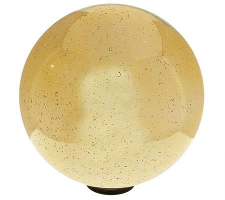 "12"" Oversized Illuminated Mercury Glass Sphere by Valerie"