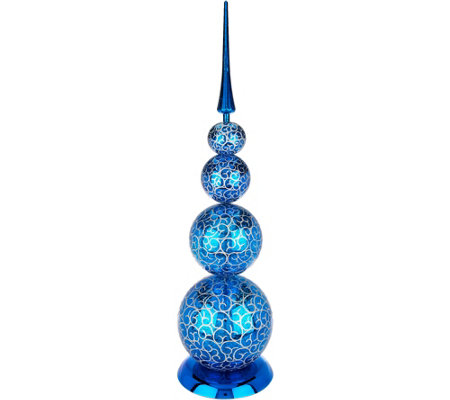 "29"" Decorative Finial with Scroll Design by Valerie"
