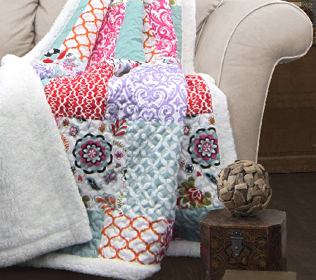 Brookdale Sherpa Throw Blanket By Lush Decor