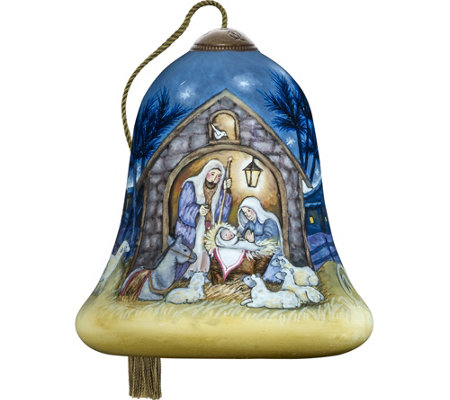 "3.00"" Away in a Manger Ornament by Ne'Qwa"