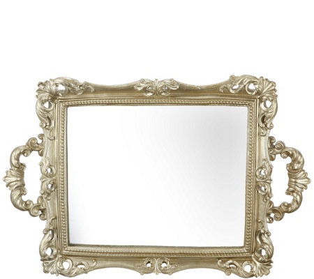 "11"" x 16"" Mirrored Tray by Valerie"