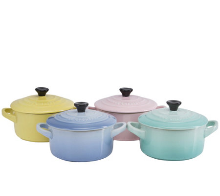 Le Creuset Sorbet Collection Set of 4 Mini Cocottes