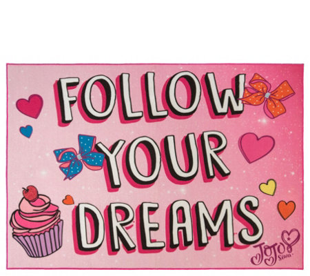 "Jojo Siwa ""Follow Your Dreams"" 4'6"" x 6'6"" AreaRug"