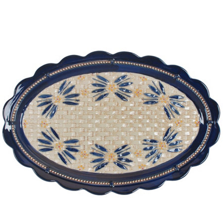 Temp Tations Old World Basketweave 18 Oval Platter