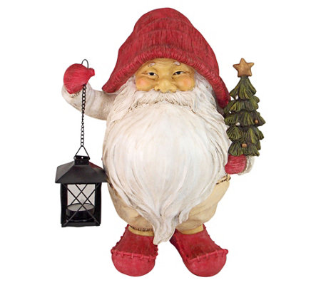 Design Toscano Santa Claus With Lantern And Tree