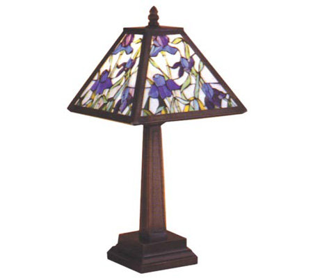 Tiffany Style Mosaic Iris Accent Lamp