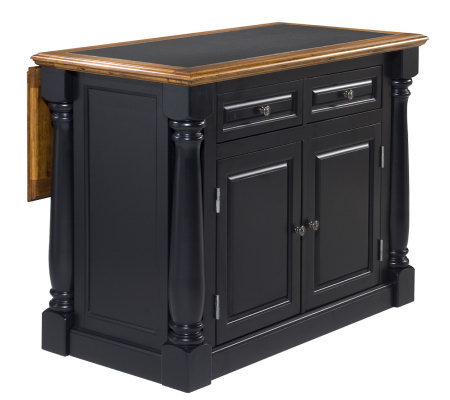 Home Styles Monarch Kitchen Island w/Granite Insert Top — QVC.com