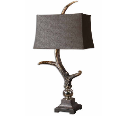 Stag Horn Dark Shade Table Lamp by Uttermost