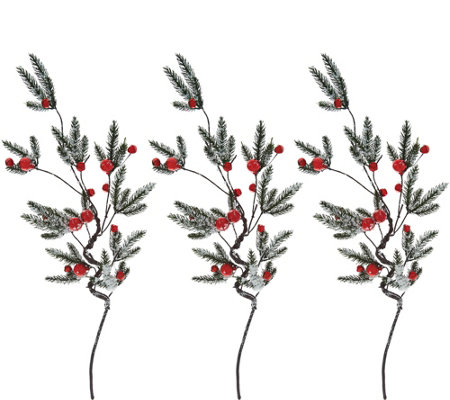 "Set of (3) 32"" Jingle Bell Stems by Valerie"