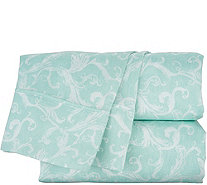 Casa Zeta-Jones 100% Tencel Printed Damask Sheet Set - H215176