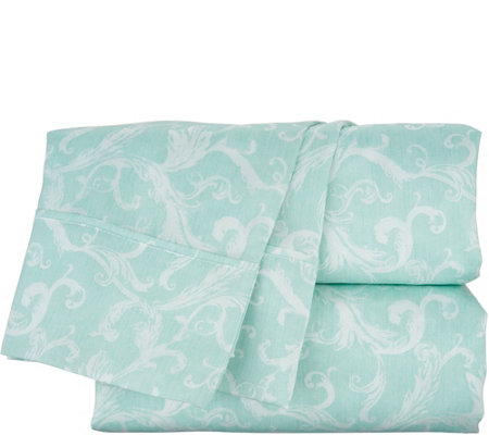 Casa Zeta-Jones 100% Tencel Printed Damask Sheet Set