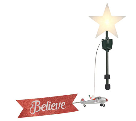 Mr. Christmas Animated Biplane Tree Topper