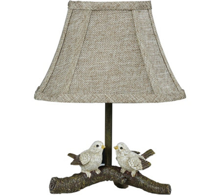 "12"" Birds on Branch Accent Lamp by Valerie"