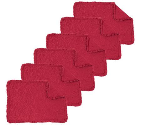 C F Home Drayton Scarlet Placemat Set Of 6