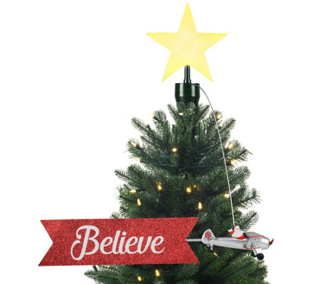Mr Christmas Animated Tree Topper Biplane Qvc Com