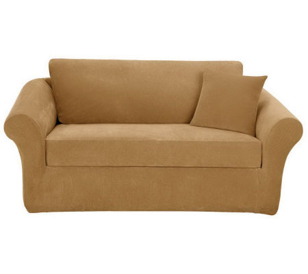 Sure Fit Stretch Pique 3 Piece Sofa Slipcover