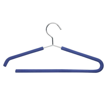 Honey-Can-Do 4-Pack Blue Foam Grip Shirt/Pant Hangers