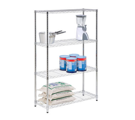 Honey-Can-Do 4-Tier Steel Urban Adjustable Shelving Unit