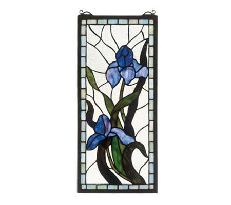 Tiffany Style Iris Window Panel