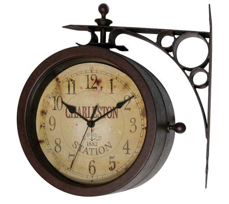 Two Sided Charleston Clock/Thermometer by Infinity