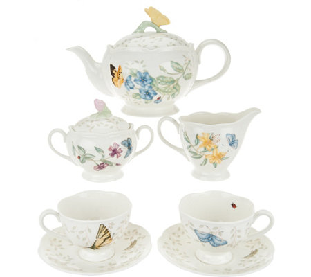 Lenox Butterfly Meadow Porcelain 9-pc Tea Set