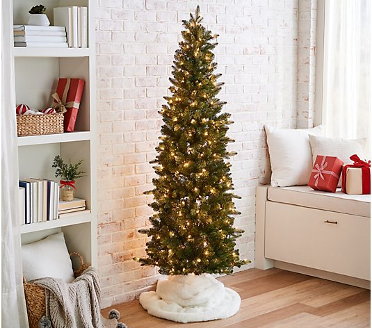 Bethlehem Lights 6.5' Slim Green Spruce Tree