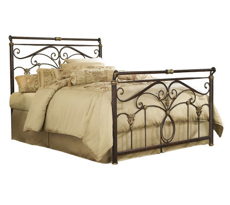 Fashion Bed Group Lucinda Marbled Russet QueenBed