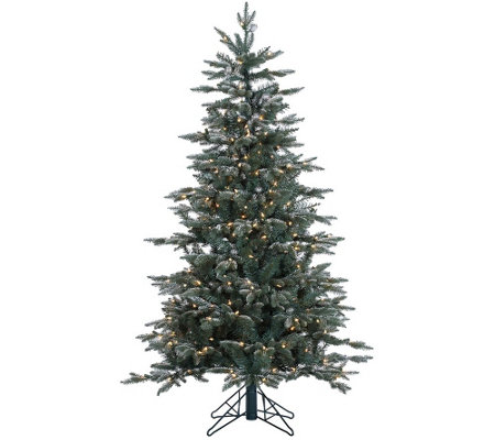 5' Prelit Frosted Crystal Balsam Tree by Valerie